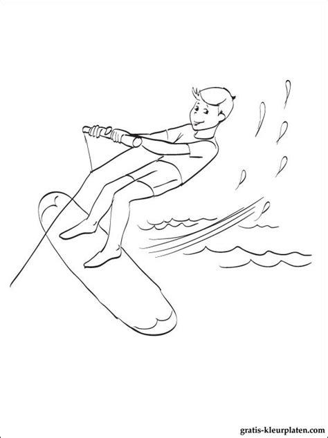 Kleurplaat Surfen by Surfing Kleurplaten Gratis Kleurplaten