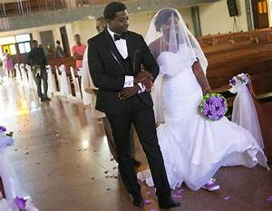 unique ghanaian bride wears sneakers on her wedding day With wedding dress with sneakers