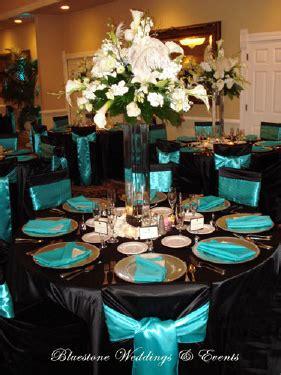 wedding reception decor black and teal i like this idea