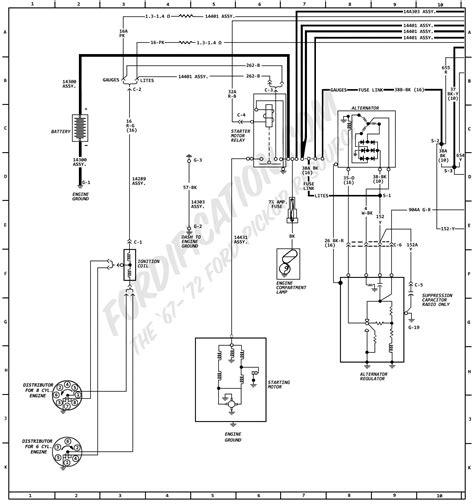 1971 F250 Headlight Wiring Diagram by 1972 Ford Truck Wiring Diagrams Fordification