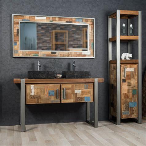 meuble de chambre de bain meuble sous vasque vasque en bois teck massif