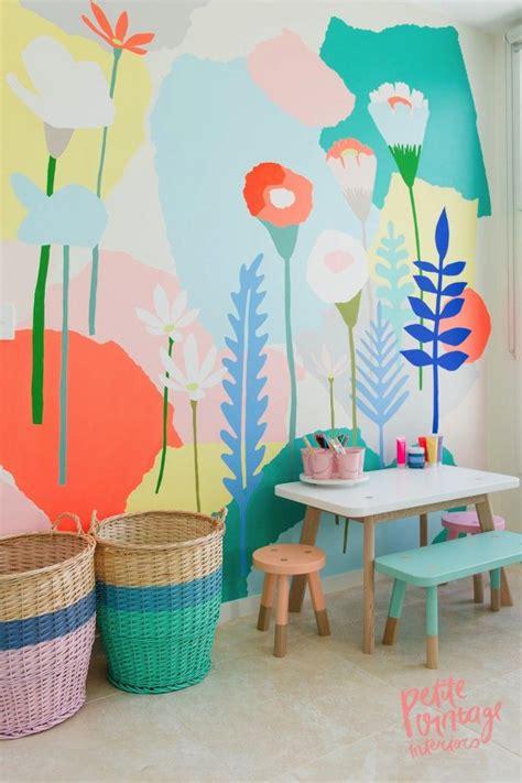 Wandgestaltung Kinderzimmer Blumen by Blumen Wand F 252 Rs M 228 Dchen Kinderzimmer Flower Power For