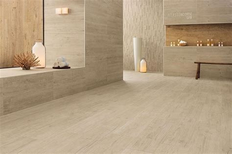 Axi porcelain tile in White Pine & Golden Oak (floor