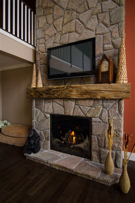 hewn barn beam mantels traditional living room toronto by canadian antique lumber