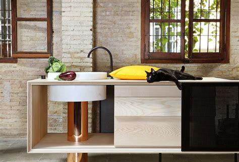 cuisine cuivre cuisine en bois naturel cuivre et marbre mobile