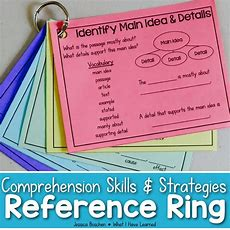 Reading Comprehension Reference Ring {skills & Strategies} • What I Have Learned