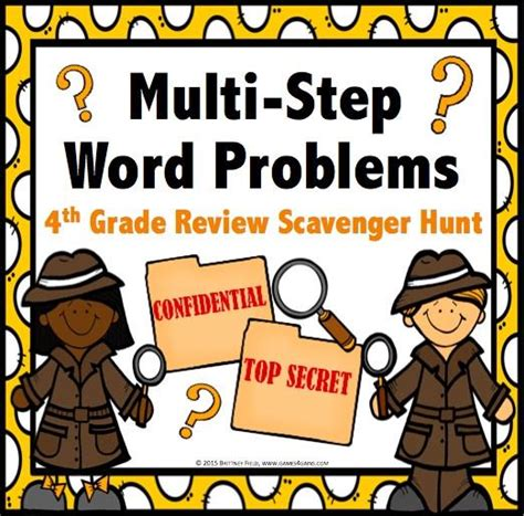 Multistep Word Problem Task Cards For 4th Grade  Games 4 Gains