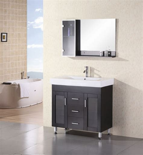 modern espresso single sink bathroom vanity