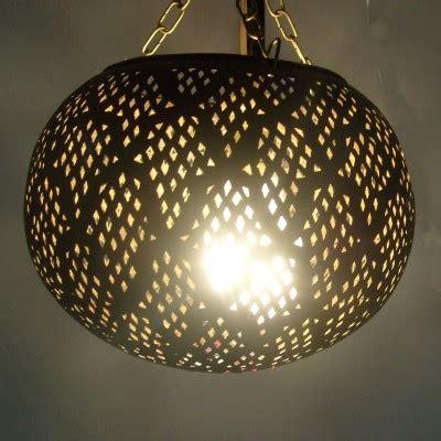 lustre marocain boule en metal marrakech