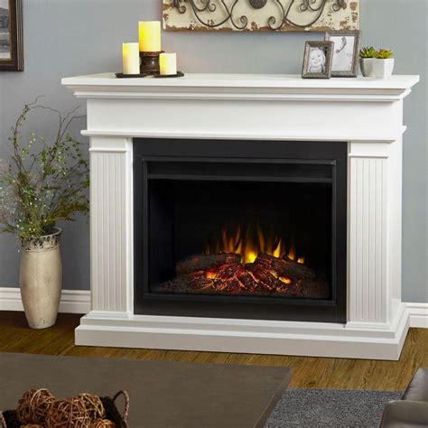 home depot electric fireplace real chateau 41 in corner electric fireplace in