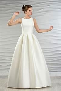 Brautkleid Mit Farbe : satin brautkleid mit jacke und kellerfalten kleiderfreuden ~ Frokenaadalensverden.com Haus und Dekorationen