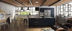 cuisine contemporaine americaine cuisines cuisiniste aviva With salle À manger contemporaine avec cuisine Équipée u