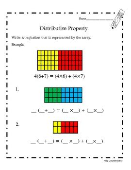distributive property common core aligned by loida tpt