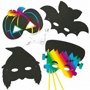 Masque Halloween A Fabriquer : masques gratter pour halloween que les enfants pourront ~ Melissatoandfro.com Idées de Décoration