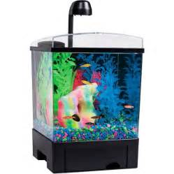 glofish 1 5 gallon aquarium kit with hood leds and