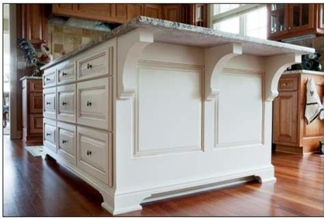 kitchen island with corbels kitchen w white accent island traditional kitchen
