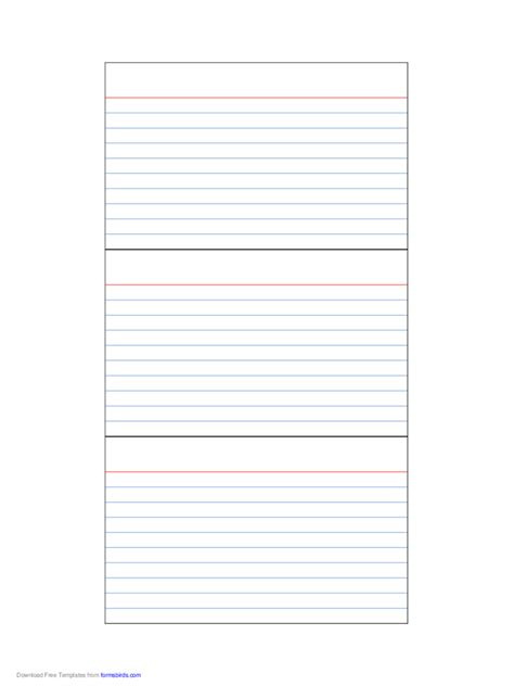index card template   templates   word excel