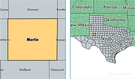 Martin Tx by Martin County Map Of Martin County Tx Where Is