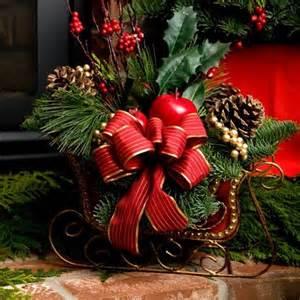 sleigh centerpiece inspiration christmas pinterest