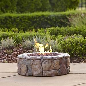Garden, Oasis, Stone, Look, Gas, Fire, Pit, 28, U0026quot