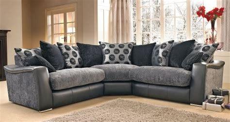 lowri corner sofa  dfs blackgrey ebay dfs grey