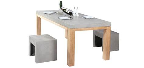 table cuisine bois revger com table en beton et bois idée inspirante pour