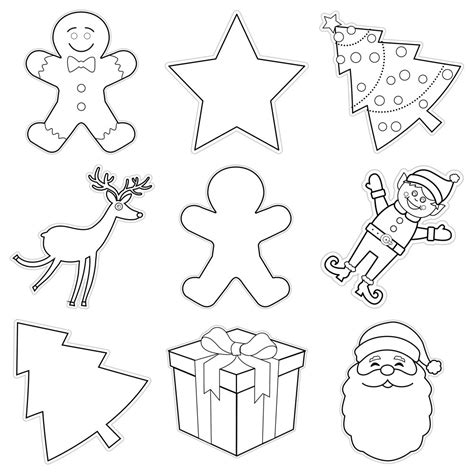 christmas ornaments coloring cut out ornaments cutouts