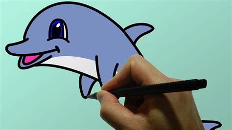 draw  cartoon dolphin youtube