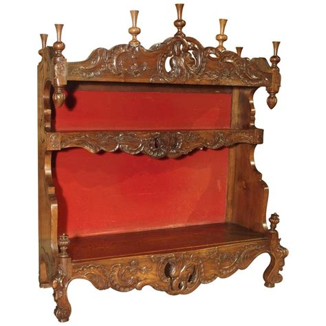 antique french walnut wood standing plate rack  estanier  provence  sale  stdibs