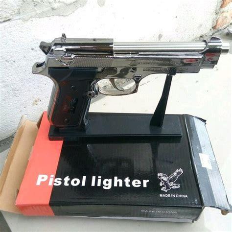jual korek api gas pistol bareta stand pajangan unik di lapak recomended seller habibhato