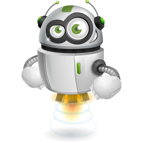 Coloured Robot Design Vector  Free Download