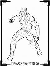 Panther Coloring Pages Avenger Printable Hero sketch template