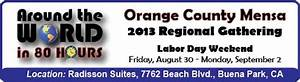2013 Regional Gathering - Orange County Mensa