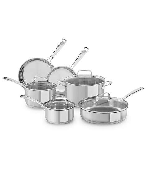 kitchenaid stainless steel  piece cookware set dillards