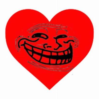 Heart Meme Trollface Problem Coolface Bba Know