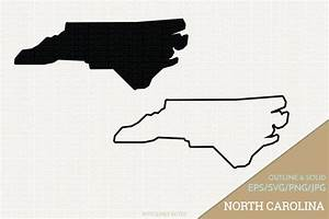 North Carolina Vector State Clipart NC Clip Art North