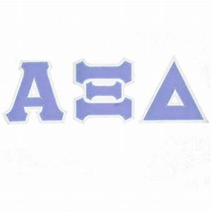 Alpha xi delta sorority tackle twilled greek letter t for Greek letters alpha xi delta