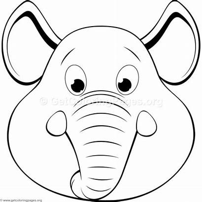 Elephant Coloring Head Pages Getcoloringpages