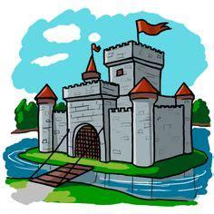 landscape  castle clip art cartoon castle landscape