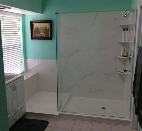 kera bath shower inc tile versus cultured marble