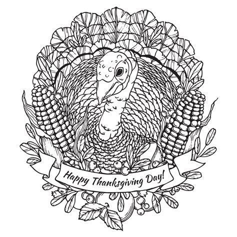 happy thanksgiving turkey mandala thanksgiving adult