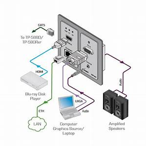 Wp-20 - Active Wall Plate   Ethernet