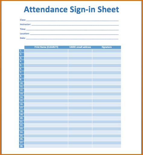 attendance sheet  authorizationlettersorg