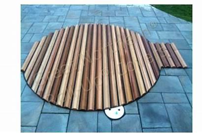 Spa Tub Roll Covers Custom Round Tubs