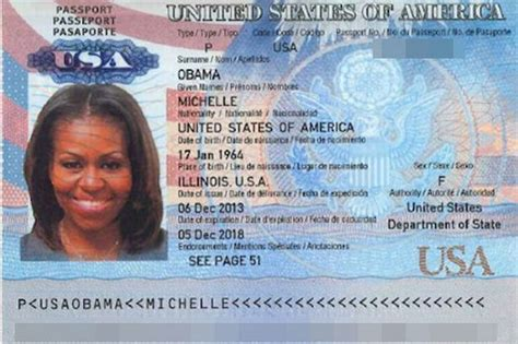 Michelle Obama's Passport 'leaked Online By Hackers'