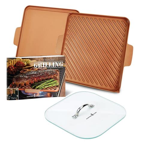 copper crisper tray nonstick basket chef oven air fryer pan fried cooking set