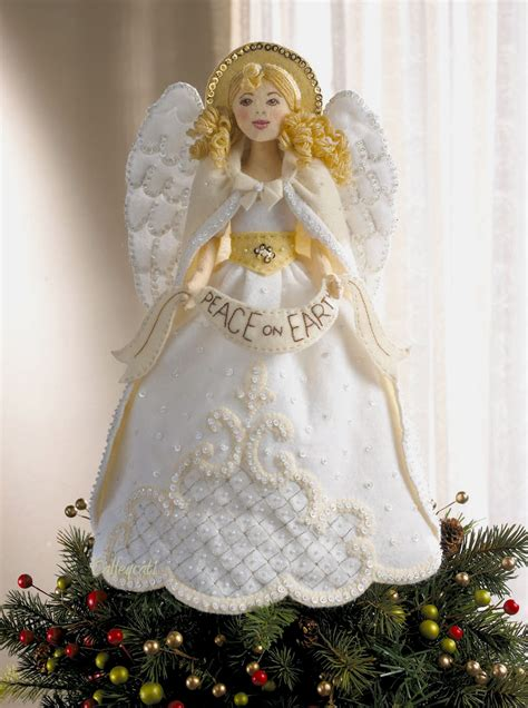 Christmas Tree Toppers Angels by Angel Tree Topper Bucilla Christmas Felt Kit 86072 Fth