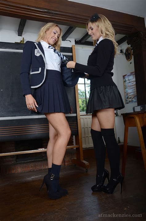 lesbian schoolgirls amy green and lainey watson have sex