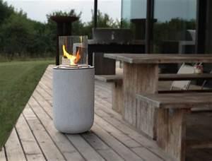 ethanol feuerstelle in beton optik With feuerstelle garten mit balkon feuerschale