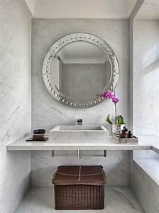 Miroir Salle De Bain Rond : miroir rond pour salle de bain id es de d coration int rieure french decor ~ Teatrodelosmanantiales.com Idées de Décoration